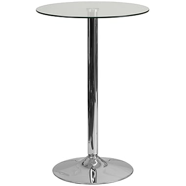 Flash Furniture 23.5'' Round Glass Table with 35.5''H Chrome Base (CH6)