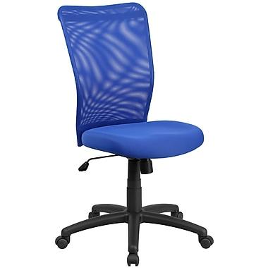 Flash Furniture – Fauteuil direction ergonomique pivotant avec dossier haut en filet, bleu (CY54ABL)