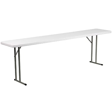 Flash Furniture 18''W x 96''L Plastic Folding Training Table, Granite White (DADYCZ2442GW)