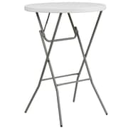 "Flash Furniture 31.25"" Round Granite White Plastic Bar Height Folding Table, Gray Powder Coated Cross Legs (DADYCZ80R2BAR)"