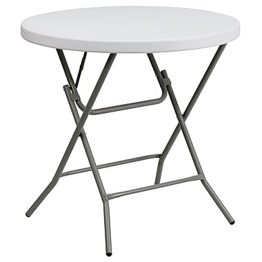 Flash Furniture – Table pliante ronde de 32 po en plastique blanc (DADYCZ80RGW)