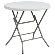 Flash Furniture 32'' Round Plastic Folding Table, Granite White (DADYCZ80RGW)