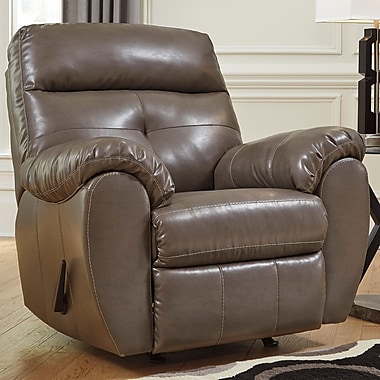 Flash Furniture Benchcraft Bastrop Rocker-Recliner in Steel DuraBlend (FBC4299RECSTL)