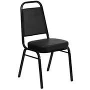 Flash Furniture  Hercules Trapezoid-Back Stacking Banquet Chair, Black Vinyl, 2.5'' Thick Seat, Black Frame (FDBHF1)