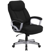 Flash Furniture GO18501FAB  Hercules Black Fabric 500lb Capacity Big and Tall Executive Swivel Office Chair