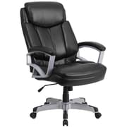 Flash Furniture Hercules Series Big and Tall Black Leather Executive Swivel Office Chair (GO18501LEA)