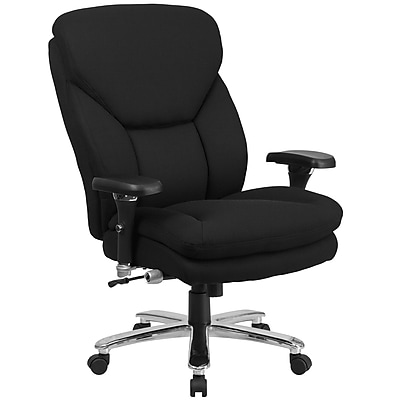 Flash Furniture GO2085 Hercules Intensive Use, Big and Tall Black Executive Swivel Chair, Lumbar Support