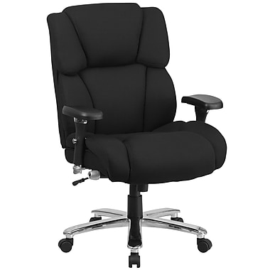 Flash Furniture GO2149 Hercules 24/7 Intensive Use Multi-Shift Big and Tall Black Fabric Executive Swivel Chair, Lumbar Support