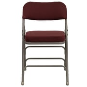Flash Furniture  Hercules Curved Triple-Braced Double-Hinged Fabric Upholstered Metal Folding Chair, Burgundy (HAMC320AFBG)