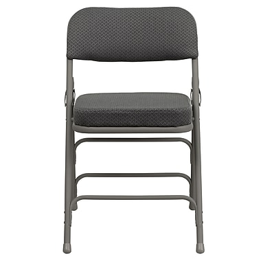 Flash Furniture – Chaise pliante HERCULES de luxe en métal à 3 barreaux et à 2 pivots, tissu gris (HAMC320AFGRY)