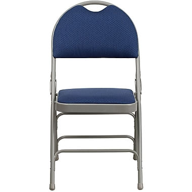 Flash Furniture Hercules Series Fabric Metal XL Ultra-Premium Triple Braced Folding Chair with Easy-Carry Handle, Navy,