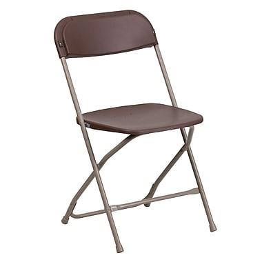 Flash Furniture – Chaise pliante en plastique série HERCULES d'une capacité de 800 lb, brun (LEL3BRN)