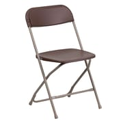 Flash Furniture  Hercules Series Premium Plastic Folding Chair with 800lb Capacity, Brown, LEL3BRN