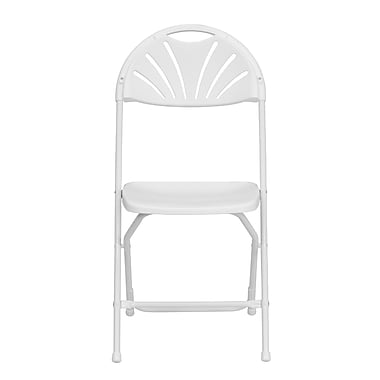 Flash Furniture Hercules Series 800lb-Capacity Plastic Fan-Back Folding Chair, White (LEL4WHITE)
