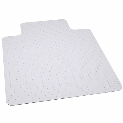 Flash Furniture 12''x45'' Vinyl Chair Mat for Carpet, Rectangular w/Lip (MAT124164BT)