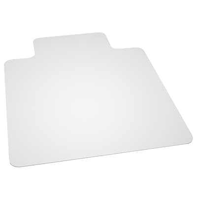Flash Furniture 48''x36'' Vinyl Chair Mat for Hard Floor, Rectangular w/Lip (MAT131858)