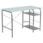 Flash Furniture Glass Computer Desk with Open Storage (NANWK086)