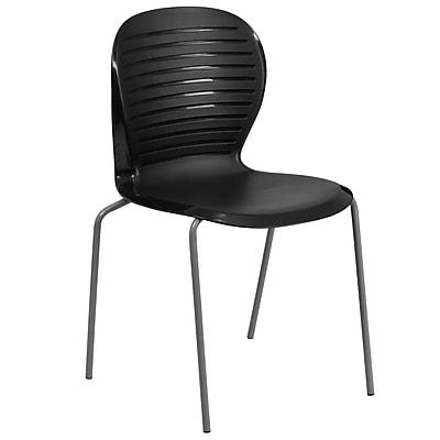 Flash Furniture Hercules Series 551lb-Capacity Stack Chair, Black (RUT3BK)