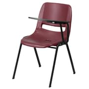 Flash Furniture Ergonomic Shell Chair, Burgundy, Left Handed Flip-Up Tablet Arm (RUTEO1BYLTAB)