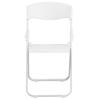 Flash Furniture Hercules Series 880lb Capacity Heavy-Duty Plastic Folding Chair, White (RUTIWHT)
