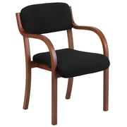 Flash Furniture Black Fabric Contemporary Wood Side Chair, Walnut Frame (SD2052AWAL)