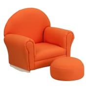 Flash Furniture Kids Orange Fabric Rocker Chair and Footrest (SF03OTTOORG)
