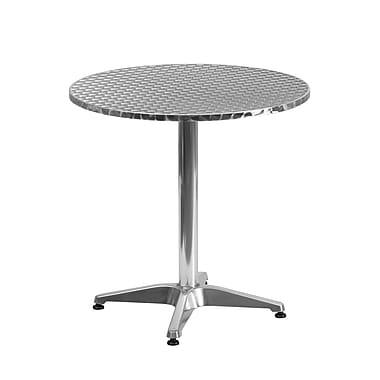 Flash Furniture – Table ronde de 27,5 po en aluminium avec base, intérieur/extérieur (TLH0522)