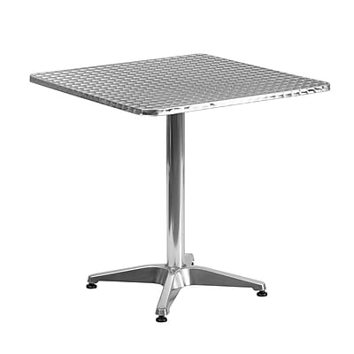 Flash Furniture 27.5'' Square Aluminum Indoor/Outdoor Table with Base (TLH0532)