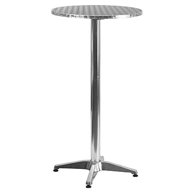 Flash Furniture 25.5'' Round Aluminum Indoor/Outdoor Folding Bar-Height Table with Base (TLH059A)