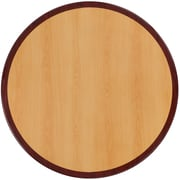 Flash Furniture 24'' Round Resin Table Top, Two-Tone Cherry and Mahogany (TP2TONE24RD)