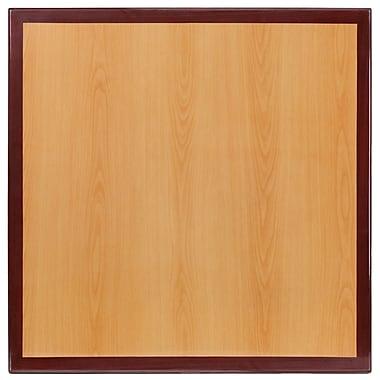 Flash Furniture – Dessus de table carré en résine de 36 po à deux tons, cerisier et acajou (TP2TONE3636)