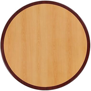 Flash Furniture – Dessus de table rond en résine de 48 po à deux tons, cerisier et acajou (TP2TONE48RD)