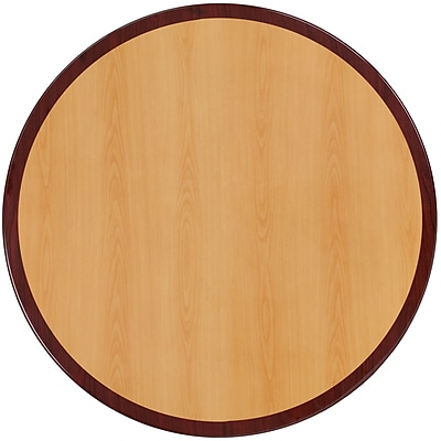 Flash Furniture 48'' Round Resin Table Top, Cherry/Mahogany (TP2TONE48RD)