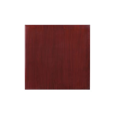 Flash Furniture 24'' Square Resin Table Top, Mahogany (TPMAH2424)