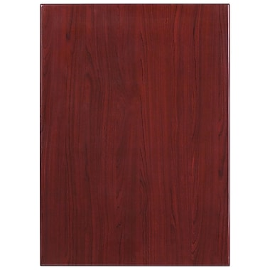 Flash Furniture 30'' x 42'' Rectangular Resin Table Top, Mahogany (TPMAH3042)