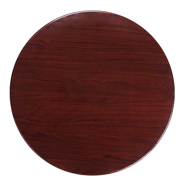Flash Furniture 36'' Round Resin Table Top, Mahogany (TPMAH36RD)