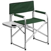 Flash Furniture Aluminum Folding Camping Chair with Table and Drink Holder, Green (TY1104GN)