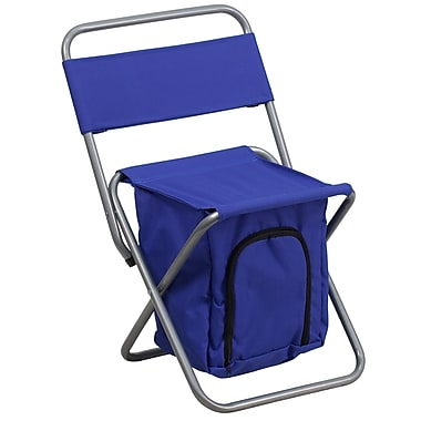 Flash Furniture Kids Folding Camping Chair with Insulated Storage, Blue (TY1262BL)