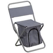 Flash Furniture Kids Folding Camping Chair with Insulated Storage, Gray (TY1262GY)