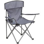 Flash Furniture Folding Camping Chair with Drink Holder, Gray (TY1410GY)