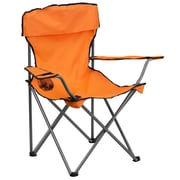 Flash Furniture Folding Camping Chair with Drink Holder, Orange (TY1410OR)