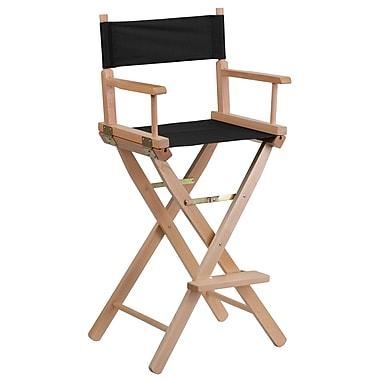 Flash Furniture – Fauteuil de metteur en scène, format bar, noir (TYD01BK)