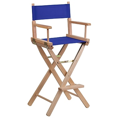 Flash Furniture Bar-Height Directors Chair, Blue (TYD01BL)