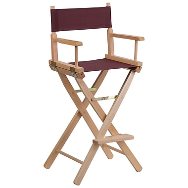 Flash Furniture Bar-Height Directors Chair, Brown (TYD01BN)