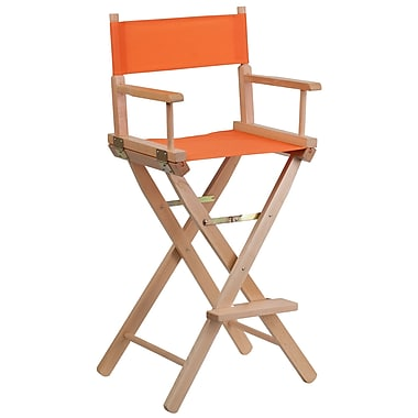 Flash Furniture Bar-Height Directors Chair, Orange (TYD01OR)