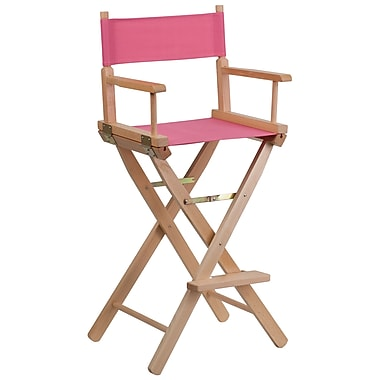 Flash Furniture Bar-Height Directors Chair, Pink (TYD01PK)