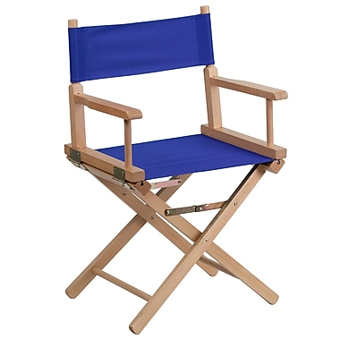 Flash Furniture Standard Height Directors Chair in Blue (TYD02BL)