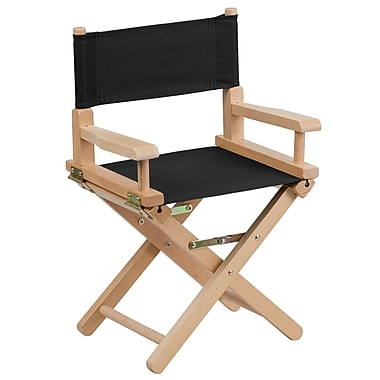 Flash Furniture Kid-Size Directors Chair, Black (TYD03BK)