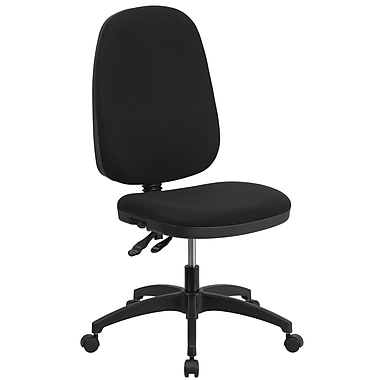 Flash Furniture High Back Fabric Multi-Functional Swivel Task Chair, Black (WR79)