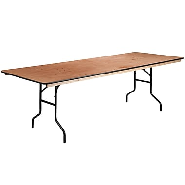 Flash Furniture – Table pliante rectangulaire avec surface de 36 x 96 po, fini bois et revêtement transparent (XA3696P)